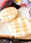 食パン➕お煎餅サンド