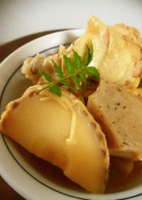 夕弁♪淡竹・鶏手羽元・板こんにゃくの煮物
