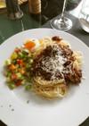 レンズ豆とマッシュルームのベジボロネーゼ