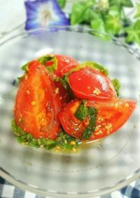 5分で簡単!トマトと大葉のマリネ