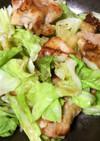 鶏肉とキャベツのガーリック炒め蒸し