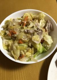 ごま油とダシダで簡単野菜炒め