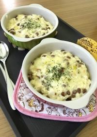 豆腐と納豆の味噌マヨ★パングラタン