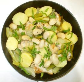 白いんげん豆と鶏の煮込み♪胃腸の弱い方に