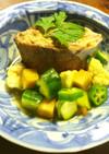 鯖の水煮缶 野菜のサラダと生姜の醤油漬け