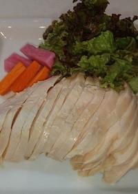 トレハロース使用鶏むね肉の茹で鶏