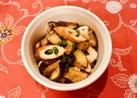 ごま油香る♫茄子と竹輪の粉チーズ胡麻和え
