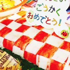 安くて簡単!紅白お寿司ケーキ