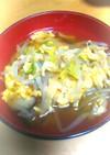 もやしと卵のキムチスープ