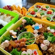 簡単♪小学校 運動会のお弁当⚑カップ素麺の写真