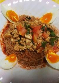 ふるる冷麺 de 夏野菜と肉味噌ビビン麺