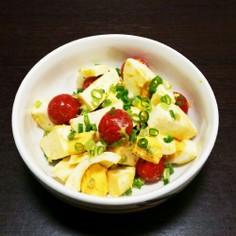 モッツァレラと卵とトマトのナムル風