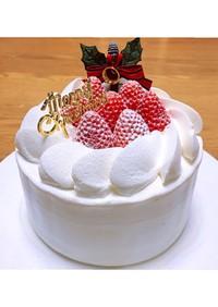 苺のクリスマスケーキ  サントノーレ口金