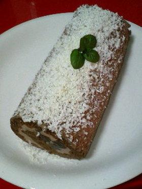生チョコ♪ロールケーキ。