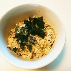 梅干とサバ味噌煮缶の炊き込みご飯
