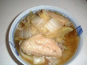 手羽先と白菜の煮物