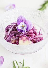 紫キャベツの常備菜でお弁当をカラフルに♪