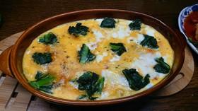 焼き鮭入り半熟エッグポテトチーズグラタン