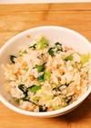 小松菜と鮭のまぜごはん