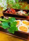 小松菜のナムルの春慶お弁当