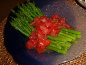 ミニアスパラとトマトのコラボ
