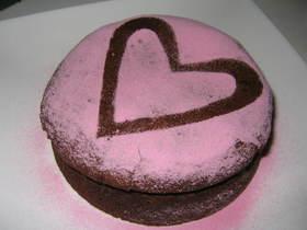 ピンクのガトーショコラ