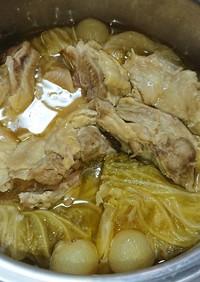 春キャベツと鶏肉の無水煮込み