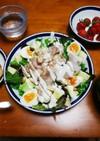 美味しい朝食 畑野菜でシーザーサラダ