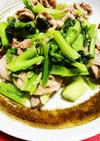 小松菜と豚肉のあんかけ風中華炒め