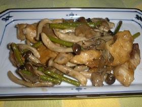 我が家の定番野菜炒め かじきバージョン