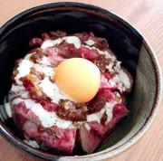 おうちで簡単!ローストビーフ丼の写真