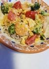 トマトと海老卵野菜の和風イタリアンご飯