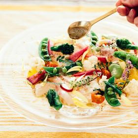 春野菜と鯛のカルパッチョ