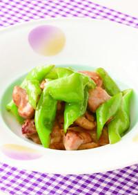甘長唐辛子と鶏肉の炒め物