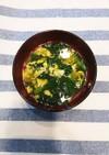 小松菜と卵の和風スープ