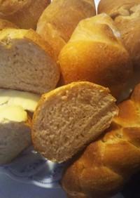 カランツ酵母のストレート法全粒粉パン