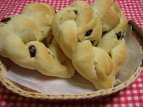 ハートのチョコチップ入りパン