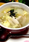 スープジャーで♡キャベツの芯の簡単スープ