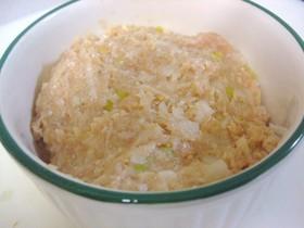 お鍋に(´▽`♥)簡単鶏れんこん団子