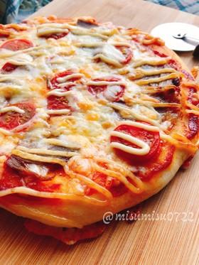発酵なしヨーグルトで捏ねるふんわりピザ