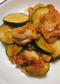 鶏もも肉とズッキーニのポン酢炒め