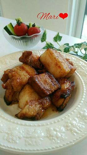 簡単オーブン豚バラブロックのスタミナ焼き
