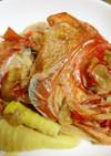 柚子果汁入り、金目鯛と旬の真竹の煮つけ