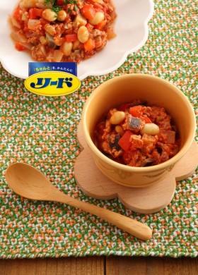 圧力調理バッグで!鶏肉と豆の夏野菜煮込み