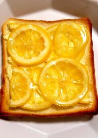 夏にぴったり!冷たいクリチレモントースト