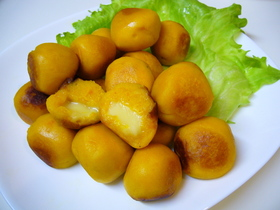 チーズinかぼちゃ餅☆