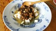 絹どうふともずく納豆の写真