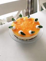 オレンジムースケーキの写真
