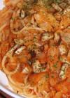 椎茸とキャベツのスパゲティ☆ボロネーゼ風