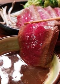 絶品!すき焼き味の簡単和風ステーキソース